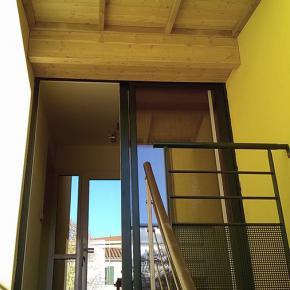 Création auvent sous terrasse bois Limonest