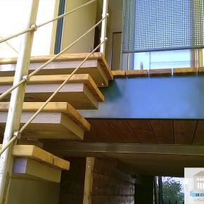 Création escalier sur terrasse bois La Tour-de-Salvagny
