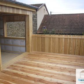 Agrandissement bois, terrasse, extension maison bois la tour de salvagny, limonest