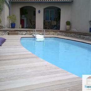 terrasse bois Tarare (piscine en IPÉ)